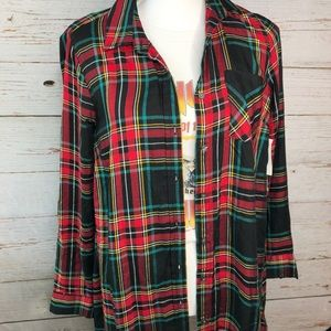 Old Navy Long Sleeve Swing Shirt Plaid Size S